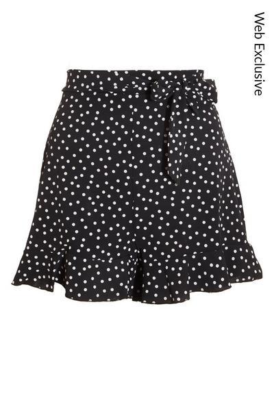 Black & White Polka Dot Shorts